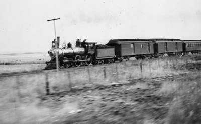 Santa Fe Passenger Train 1890's, RPO Car is directly behind the locomotive