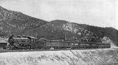 California Limited in siding at Cajon Summit