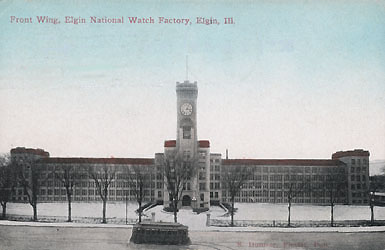 Elgin Factory view of the front, S. Dunser, Publisher