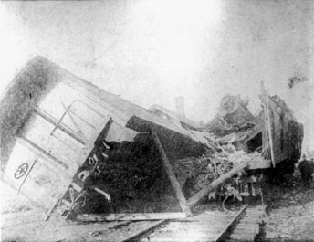 Lake Shore Collision at Kipton April 18, 1891, photo courtesy Smithsonian National Postal Museum