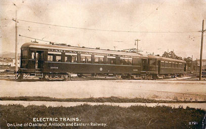 Oakland, Antioch & Eastern Railway No. 1006, photo pub. by Edward H Mitchell, San Francisco