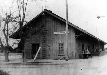 Southern Pacific West Anaheim Depot, circa 1908, courtesy Anaheim Public Library