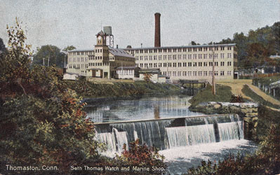 Seth Thomas Watch and Marine Factory, postcard by Hugh C Leighton Co, Portland, ME
