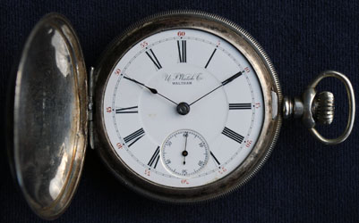 U S Watch Co, Waltham, model 1 hunting case watch, circa 1889
