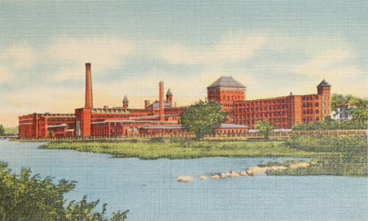 American Waltham Watch Factory from across Charles River