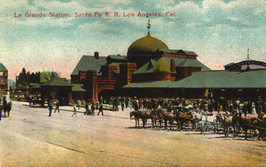 La Grande Station, Los Angeles, Newman Post Card Co. Photo