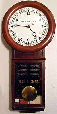 Santa Fe Standard Clock by Seth Thomas (stock photo)