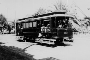 LACE University Line Car No. 110 on Vermont Ave, circa 1891 (USC Library)