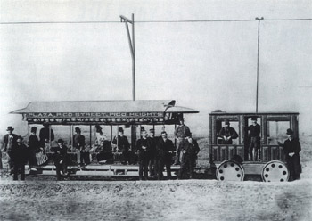 Los Angeles Electric Railway at Pico Heights, 1887, Huntington Library