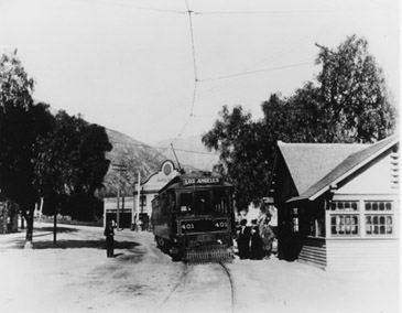 PE Car at Sierra Madre 1908
