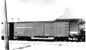 Carson & Colorado Ry. Box Car No. 7 at Laws (Richard Boehle Collection)